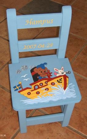 Blå bamse båt_stolAL
